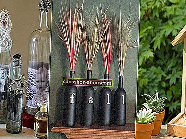 37 умных способов повторно использовать стеклянные бутылки для домашнего декора.