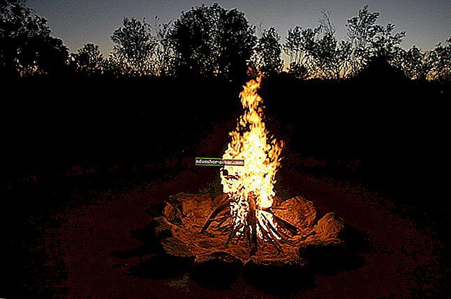 Новый способ разжечь костер без дров.